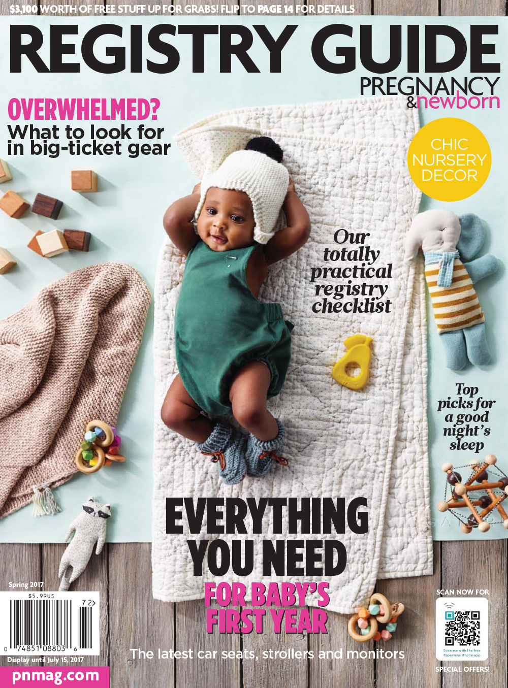 cover of spring 2017 baby and newborn registry guide