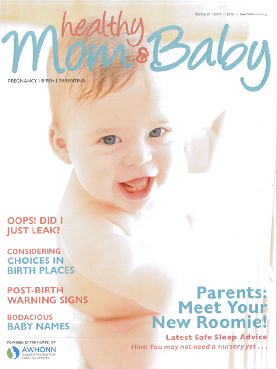 cover of healthy mom and baby issue 21