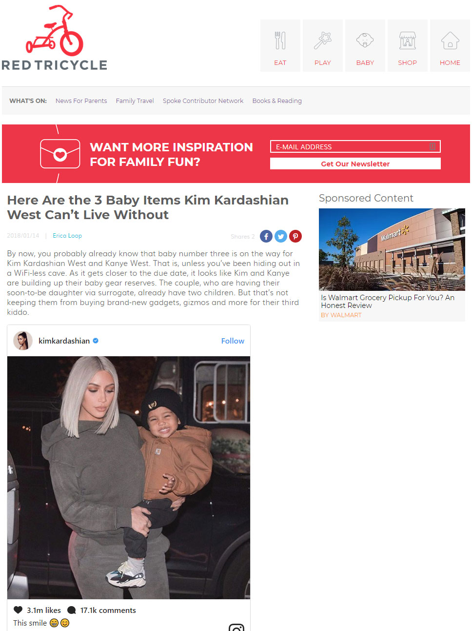 screenshot of red tricycle article featuring kim kardashian and my brest friend