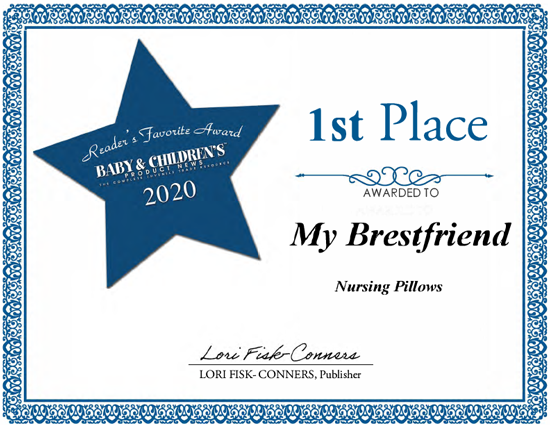 1st place certificate from baby and childrens for my brest friend