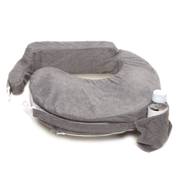 My Brest Friend Deluxe Nursing Pillow in the Evening Gray colorway