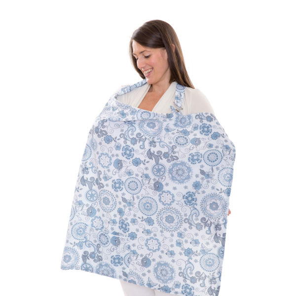 breastfeeding privacy cover with starry sky pattern